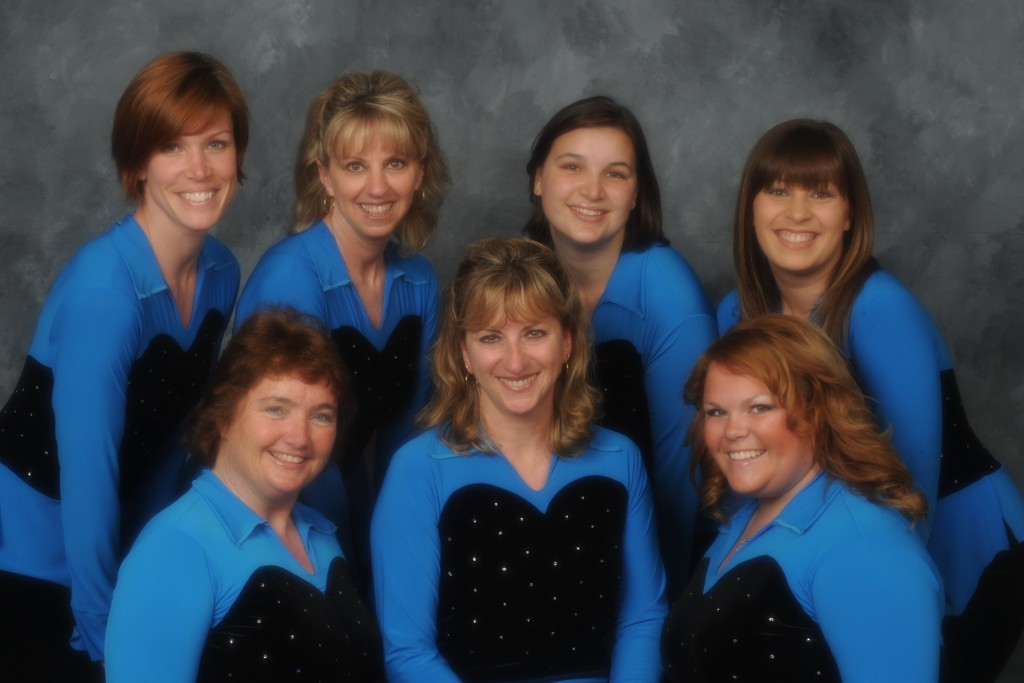 """Dancing Green- In Tune with our Planet"" 2009 Faculty: Back row- Elaine, Wendy, Laural, Alisha Front row- Liz, Tude, Nicole"